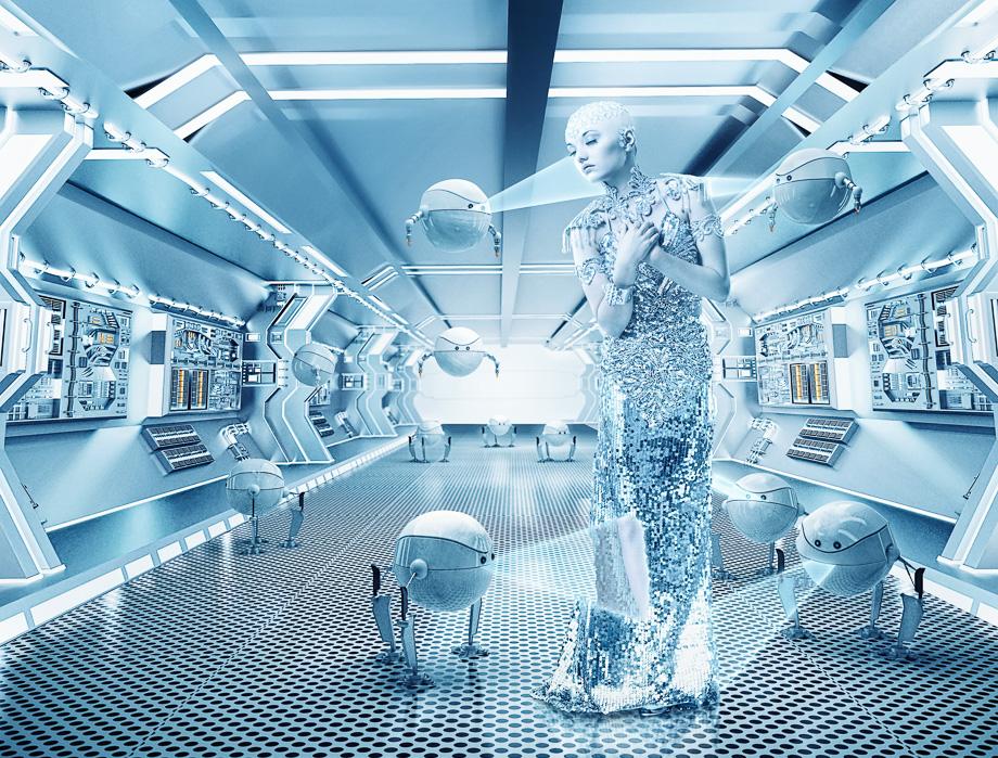 Spacegirl with robots 10