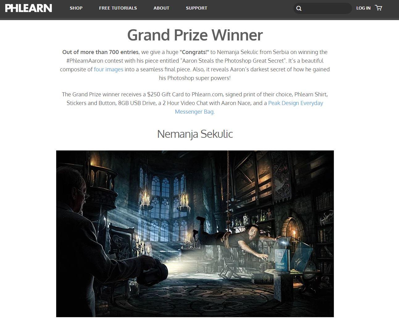 Winner!!! phlearn.com